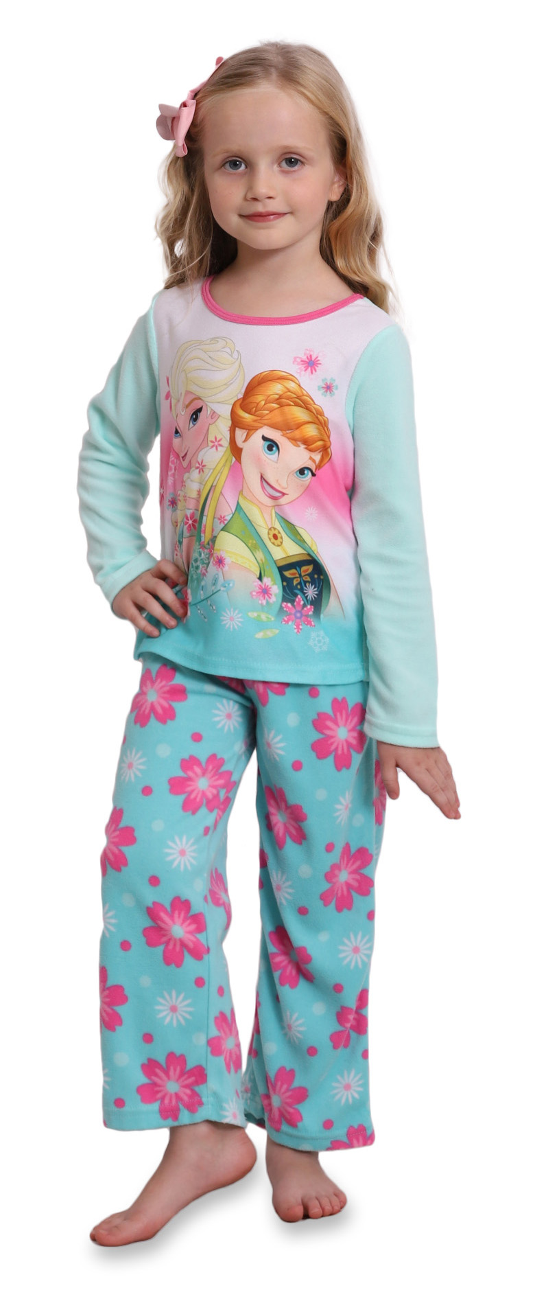 Sizes 4 10 Disney Frozen Fever 2 Piece Girls Pajamas
