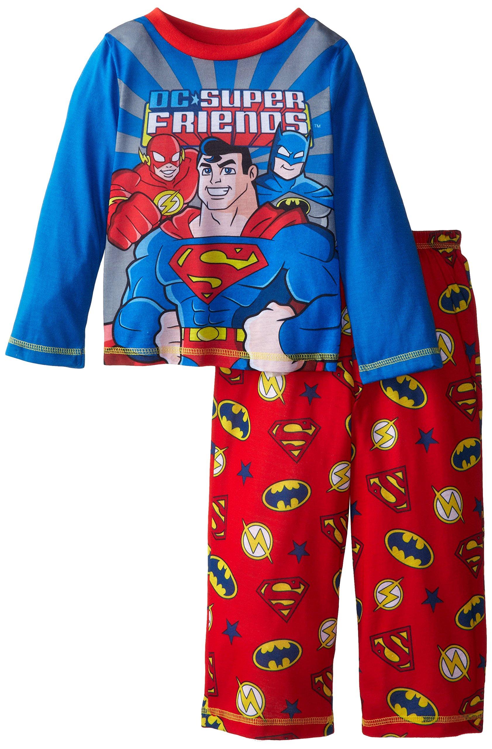 Batman NWT Children/'s 2 Piece Comic Book Super Hero Pajama Set Superman