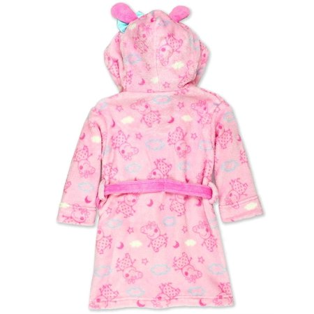 Toddler Girl/'s PEPPA PIG Sz 5T Plush ROBE Pajama Cover PJS Pink