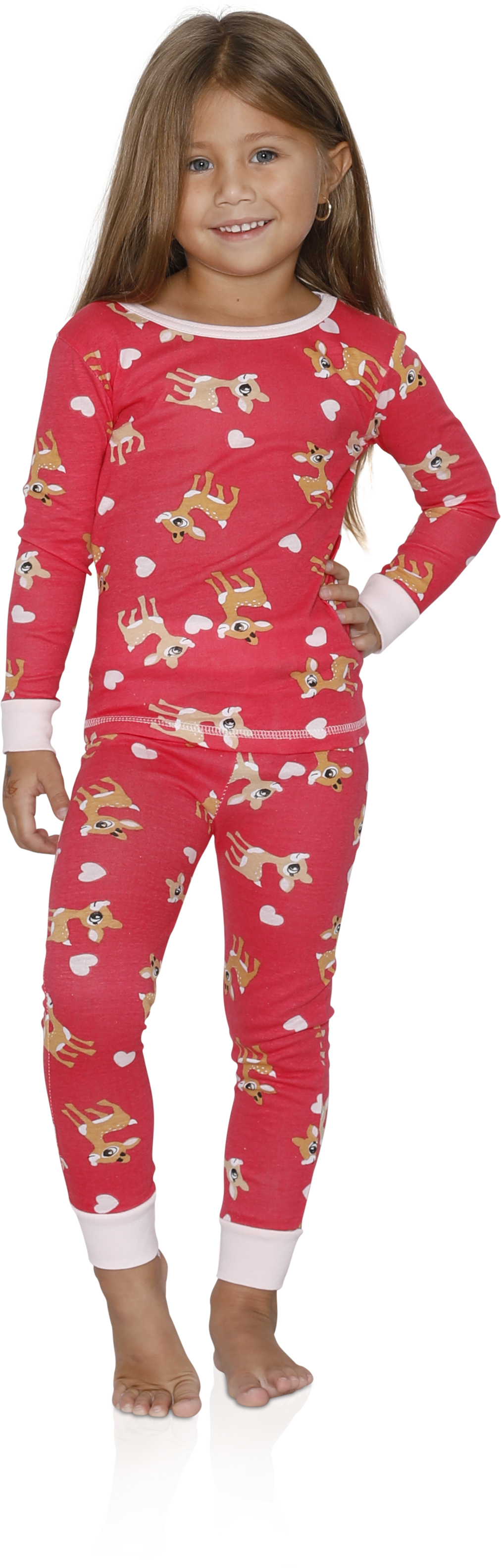 Girls 4 Piece Fancy Cotton Pajamas Sets